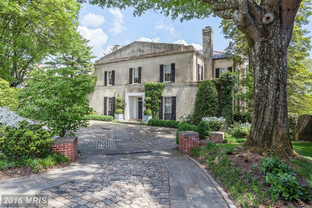 "Closing in October, this house was the last ""big"" sale of 2016, closing for $5,700,000, which was actually $25,000 more than it listed for. The Villa built in 1940 has seven bedrooms, eight full bathrooms and one half and is situated in the Kent neighborhood of Washington, D.C. Washington Fine Properties represented the seller and buyer. (Image: Courtesy MRIS)"