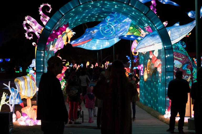 A tunnel representing the undersea world is seen on the opening night of the China Lights lantern festival Friday, January 19, 2018, at Craig Ranch Regional Park in North Las Vegas. The festival, which features nearly 50 silk and LED light displays comprised of over 1000 elements, runs through February 25th. CREDIT: Sam Morris/Las Vegas News Bureau