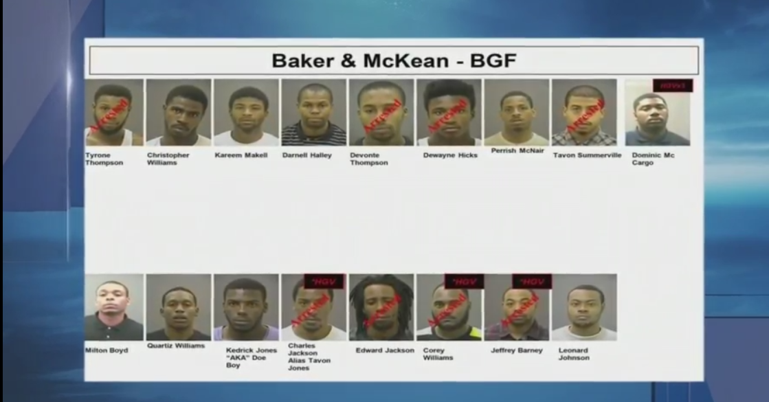 As Baltimore police and prosecutors continue to aggressively target gang members, authorities have announced dozens more have been indicted, though some of them are still on the loose. (WBFF)