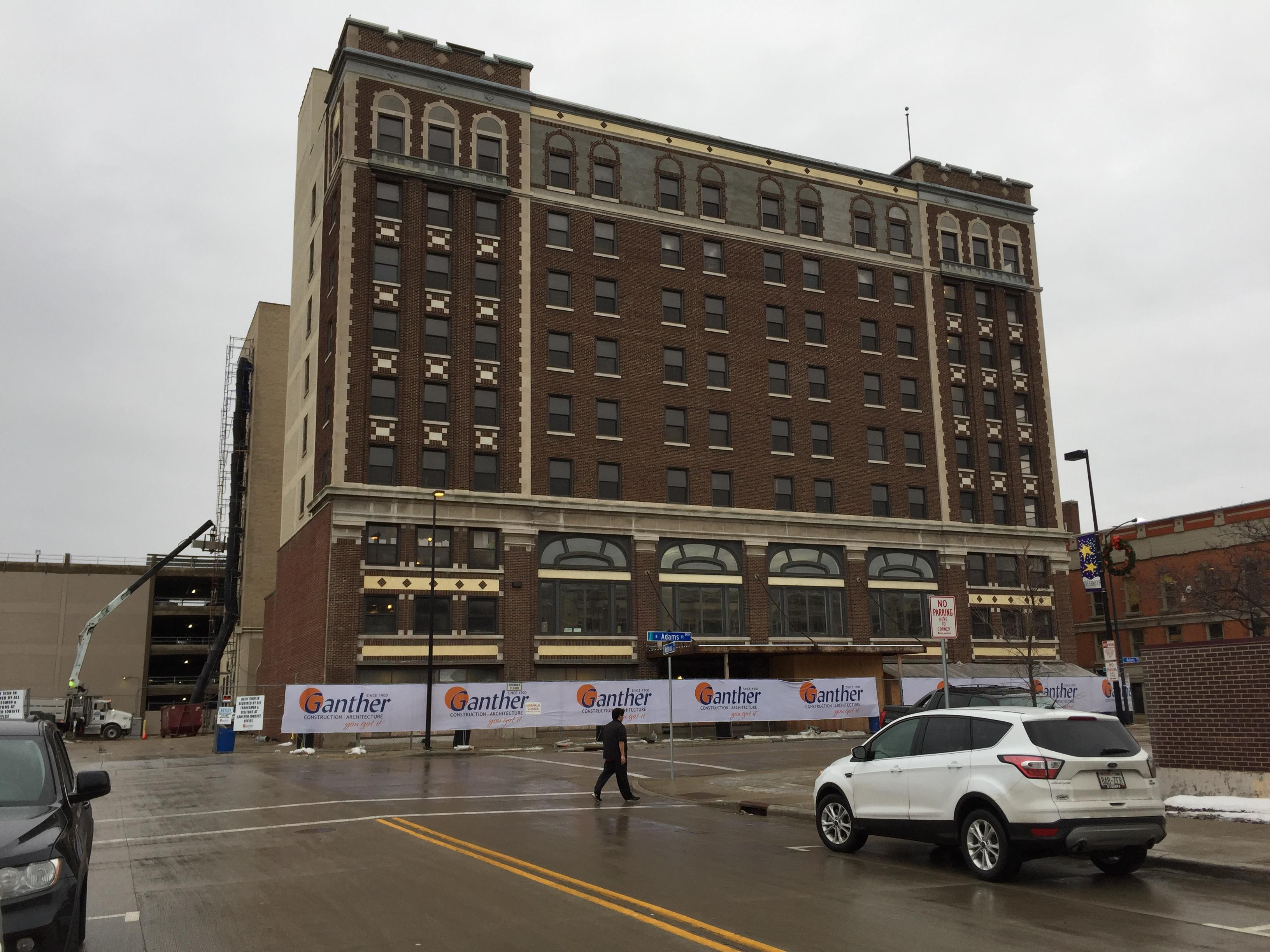 Hotel Northland in Green Bay on January 11, 2018. (Photo credit: WLUK)