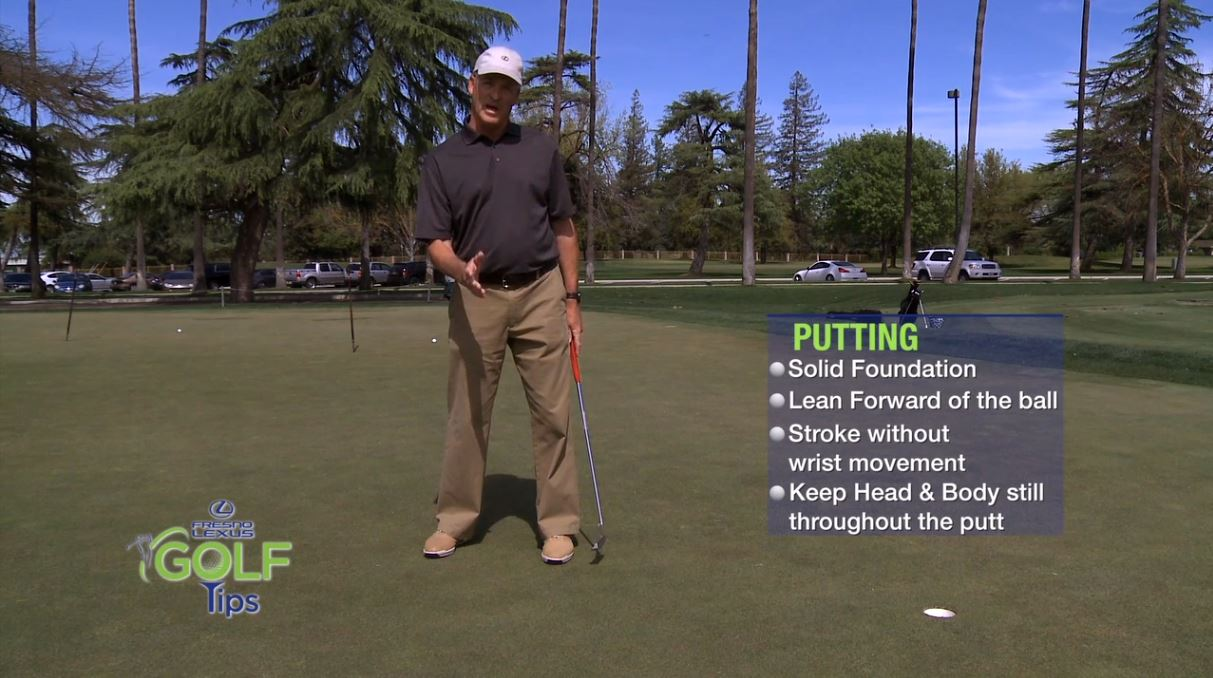 Tommy Masters, Director of Golf Operations at San Joaquin Country Club, with another useful Fresno Lexus Golf Tip. In this tip, Tommy Masters shows you tips for putting.