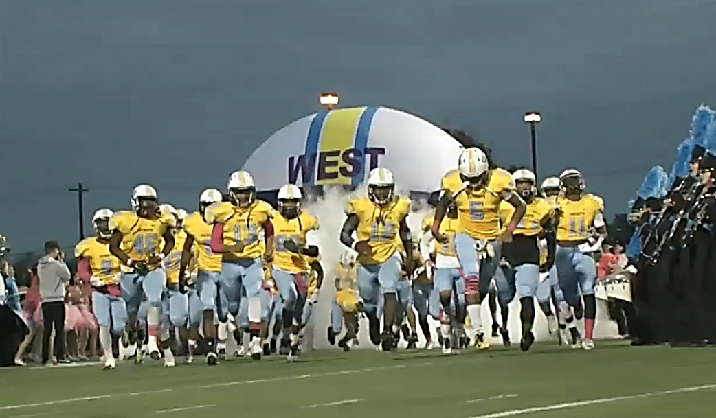 Putnam City West Patriots take the field to face the Midwest City Bombers on Friday, Oct. 14, 2016.  The Bombers would win the game 21-16. (KOKH)