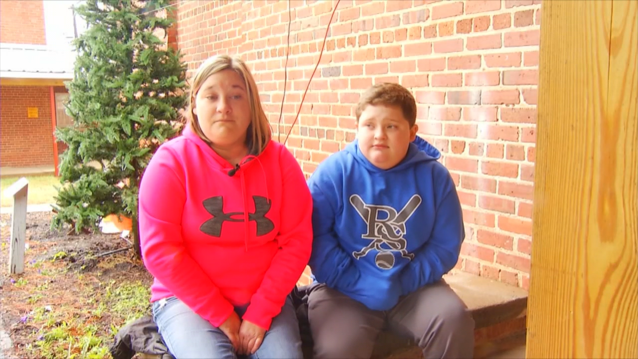 Anthony Mayse and his mother, Ashley, say a Forest City, N.C. Santa Claus body shamed the 9-year-old boy. (WLOS)