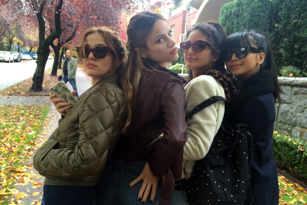 "Zoey Deutsch, Halston Sage, Medalion Rahimi and Cynthy Wu in ""Before I Fall.""  Courtesy Awesomeness Films / Open Road Films"