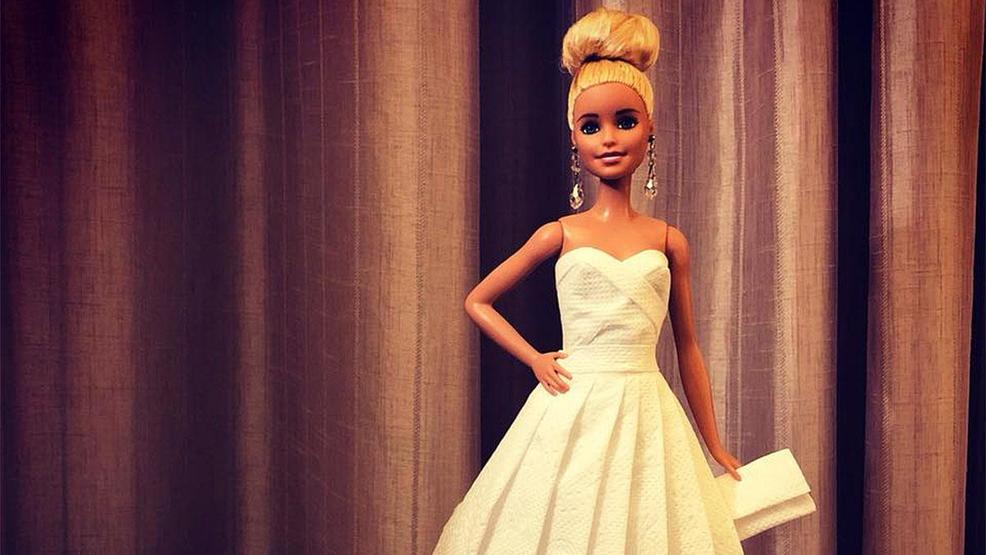 Photos: Designer creates bridal gowns for Barbie dolls using toilet ...
