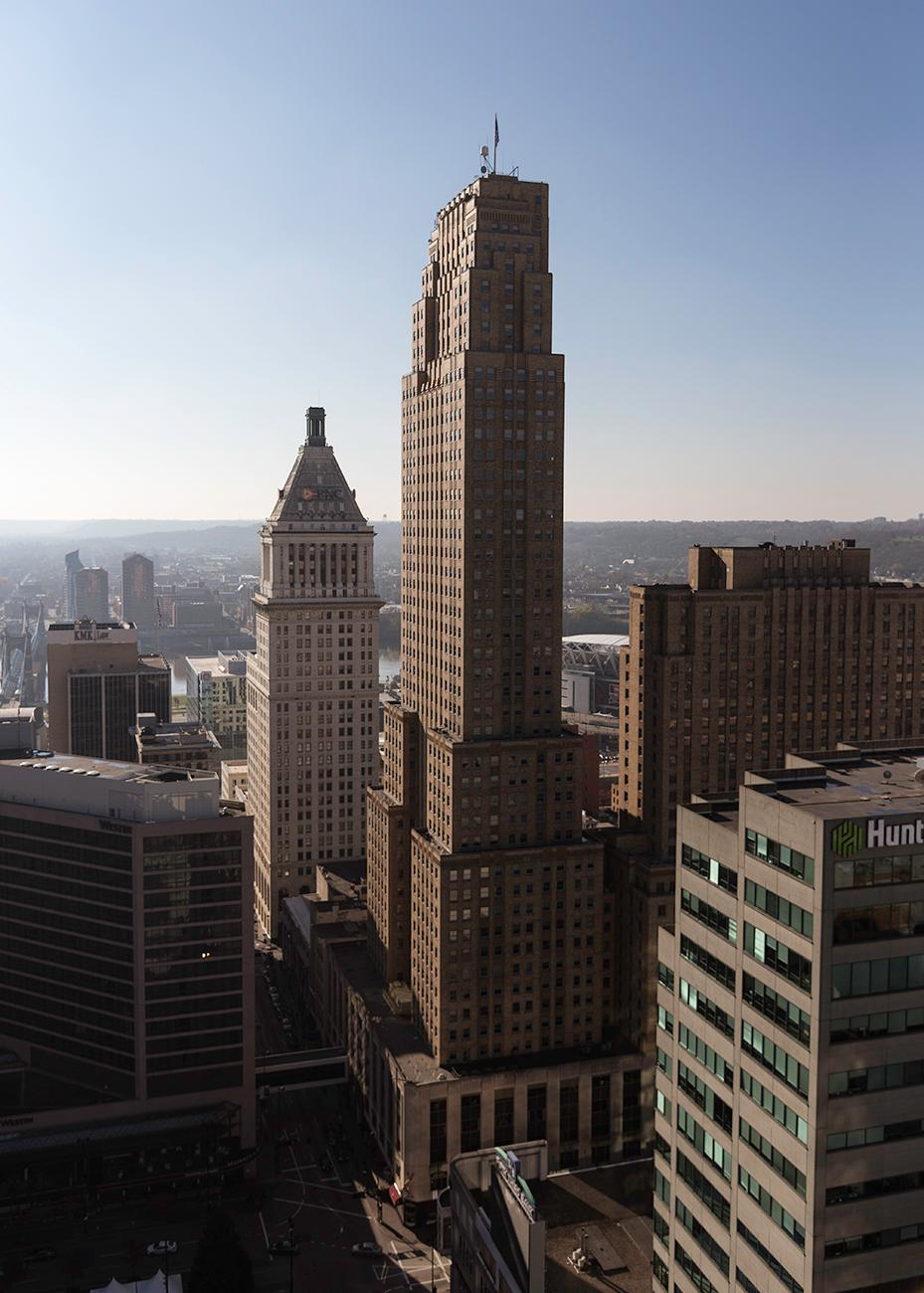 From 1930 to until 2011, the Carew Tower stood as the tallest building in Cincinnati. Located at 441 Vine Street, the Carew Tower has a height of 623 feet from the street to its tip (the flagpole). Many people appreciate how high the tower stands thanks to its public observation deck located on the 49th floor. So how does the Carew Tower stack up to world icons and landmarks? Let's find out. / Image: Phil Armstrong // Published: 5.15.19