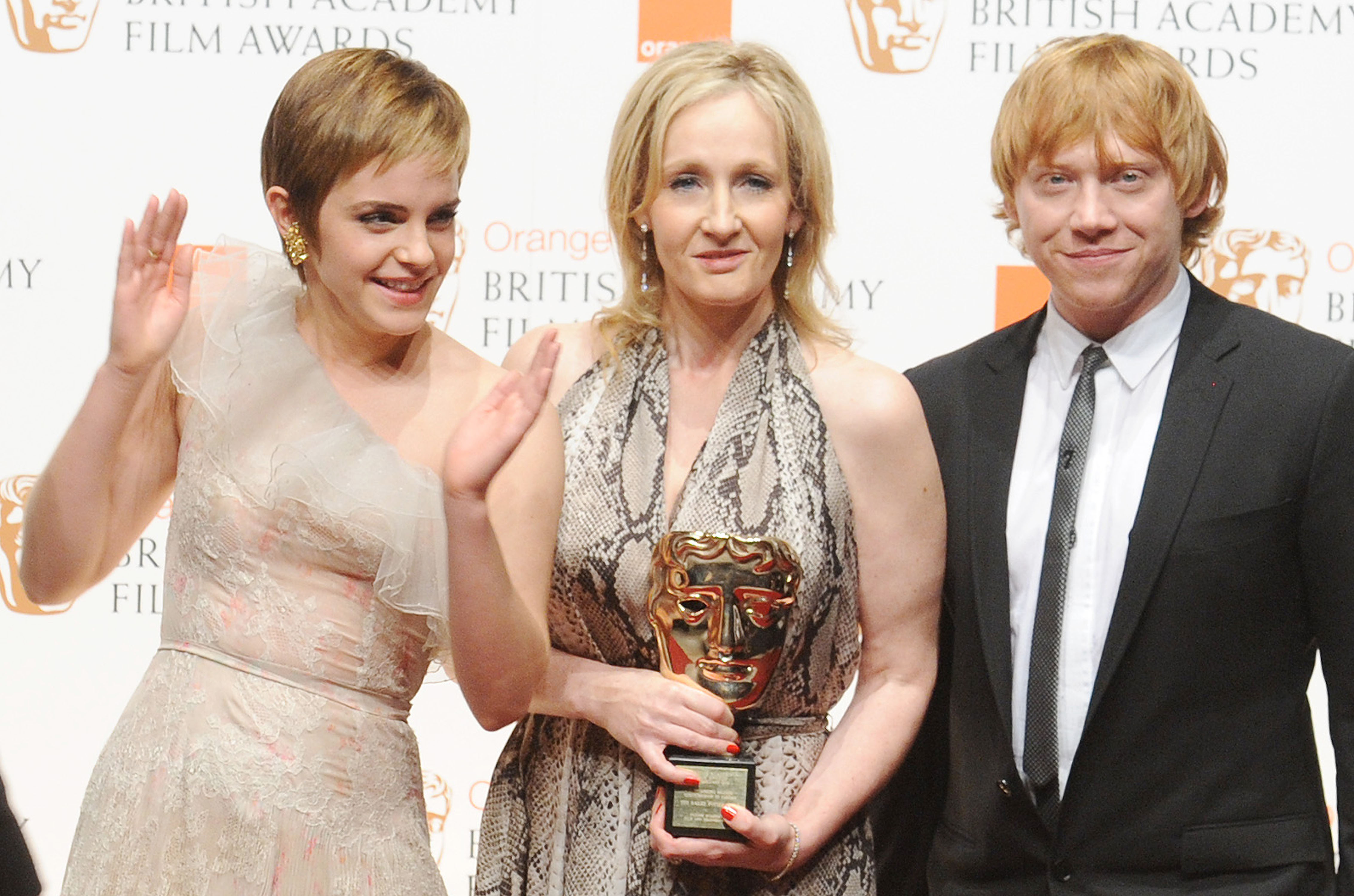Emma Watson and J.K Rowling Orange British Academy Film Awards (BAFTAs) held at the Royal Opera House - Press Room London, England - 13.02.11  Featuring: Emma Watson and J.K Rowling Where: London, United Kingdom When: 13 Feb 2011 Credit: WENN