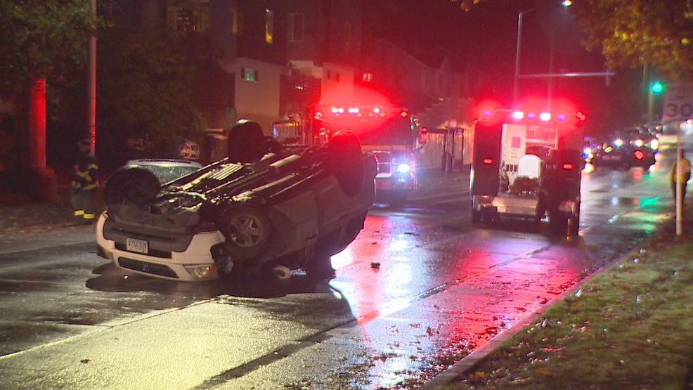 Driver injured in West Seattle rollover crash