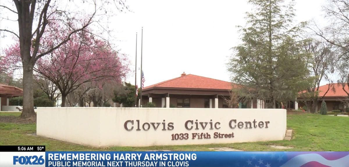 Harry Armstrong is being remembered with a ceremony that will be open to the public.{ } { }