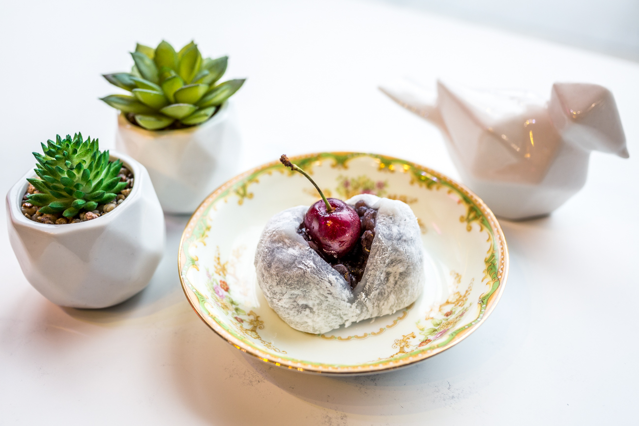 Cherry Daifuku Mochi: local cherries, red bean, and super soft mochi / Image: Catherine Viox{ }// Published: 9.19.19