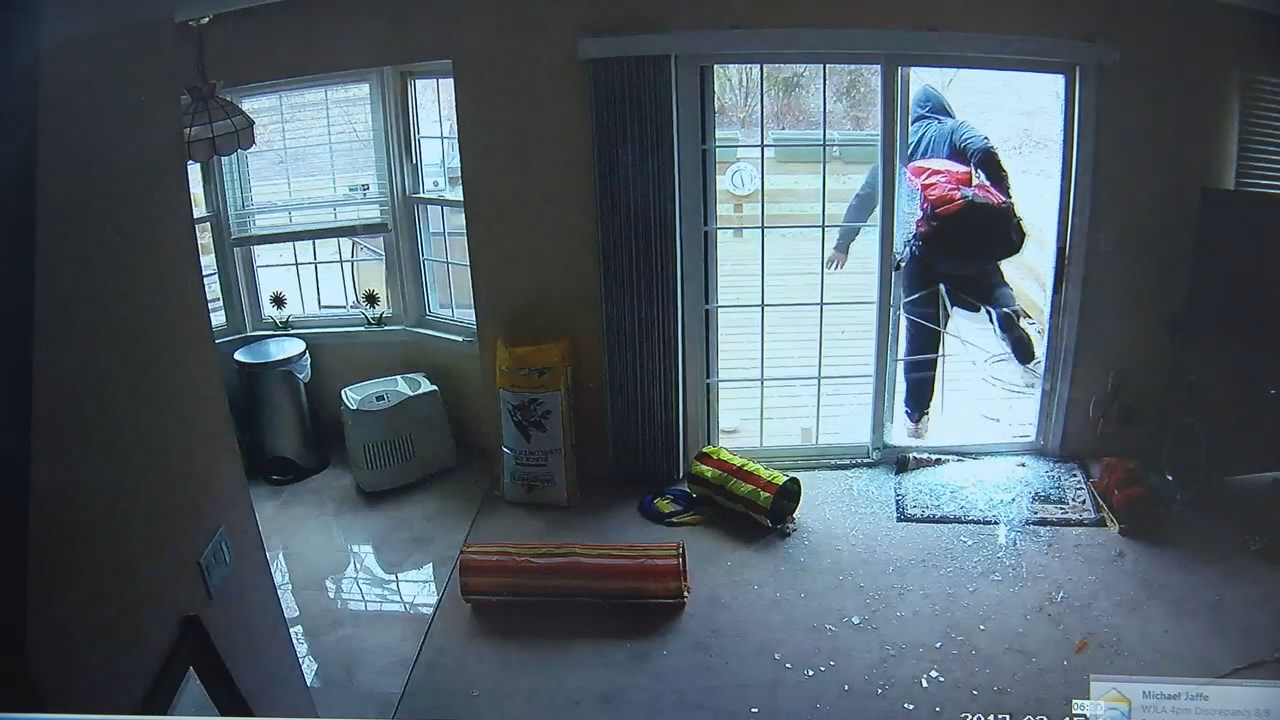 Cameras capture couple burglarizing home in Montgomery Co. (Surveillance Video Screenshot)