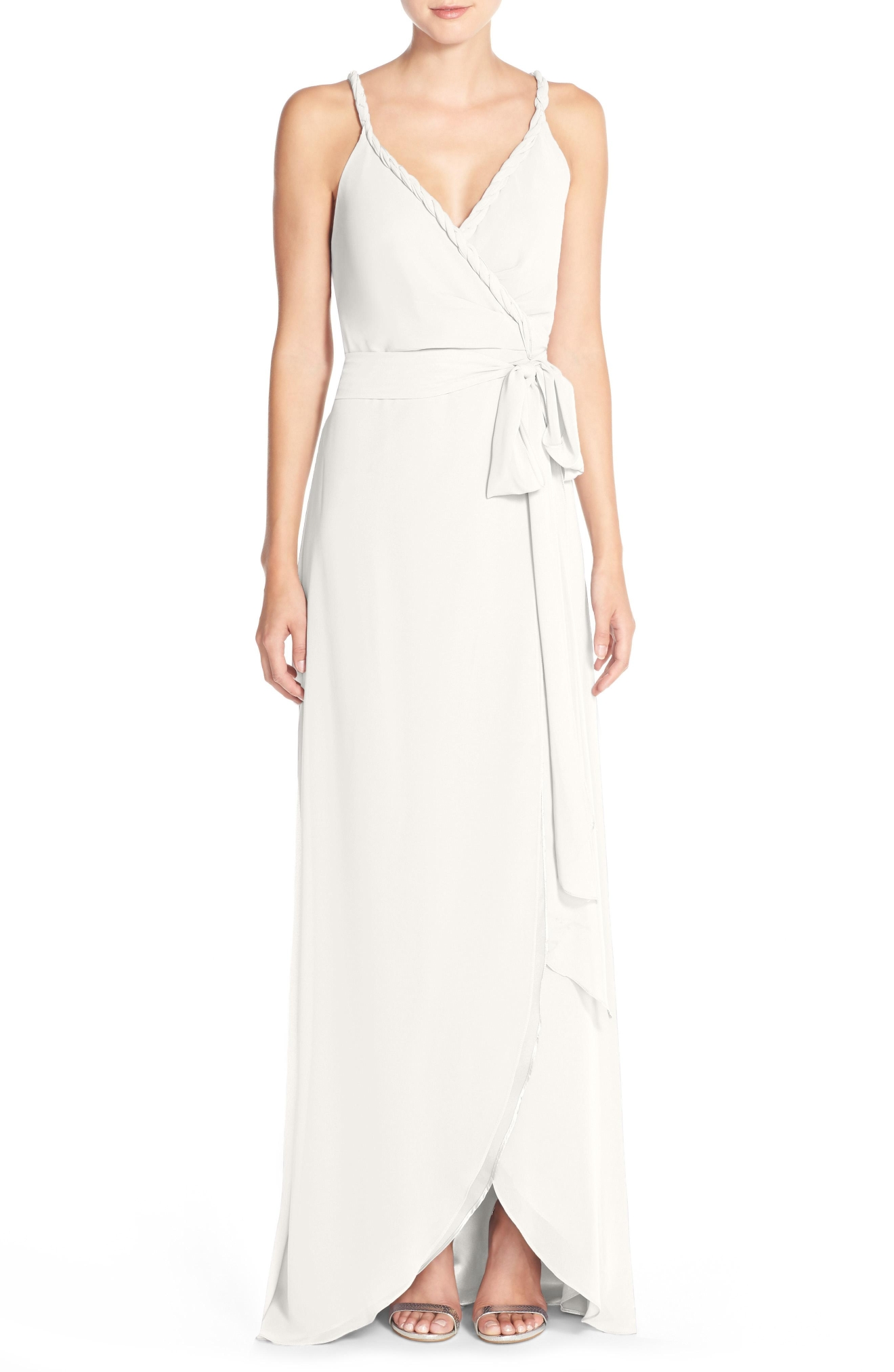 Ceremony by Joanna August 'Parker' Twist Strap Chiffon Wrap Gown, $258, Nordstrom.com (Image: Courtesy Nordstrom)