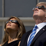 President Trump and first lady Melania watch eclipse from White House's Truman Balcony