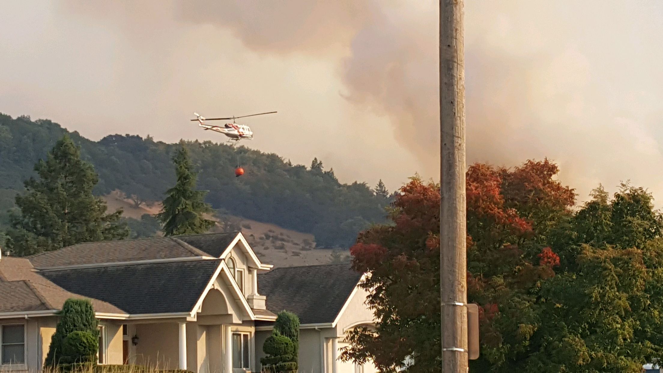 The Lane County Strike Teams are stationed near the Nunn Fire in Santa Rosa, Calif. (Submitted photo)<p></p>