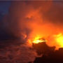 INSIDE THE STORM| Video shows Kilauea lava river running into the ocean