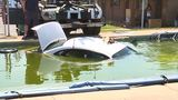 Man left trying to explain how car ended up in swimming pool