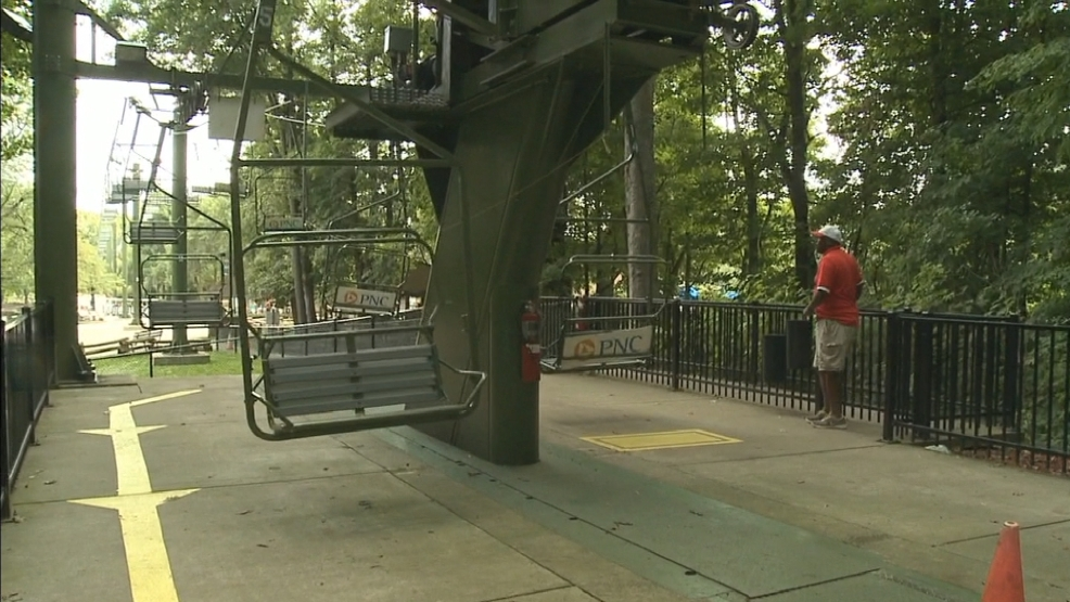 The Sky Glider ride at the Milwaukee County Zoo