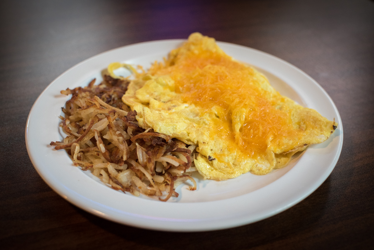 Bacon and cheese omelette / Image: Phil Armstrong, Cincinnati Refined // Published: 5.15.17