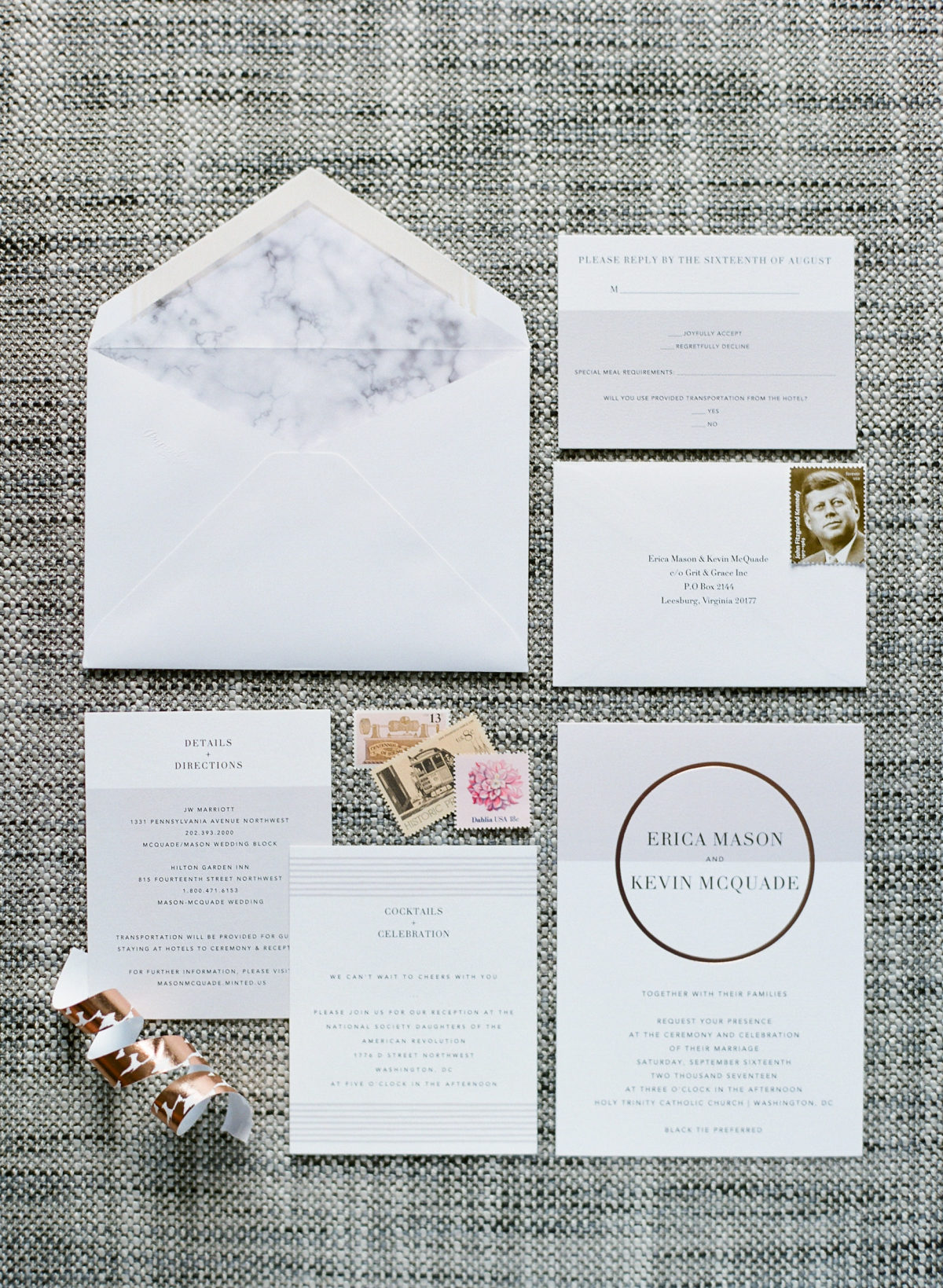 Invites: Paperless Post / Calligraphy:{ }LH Calligraphy (Image: Abby Grace Photography/ abbygracephotography.com)