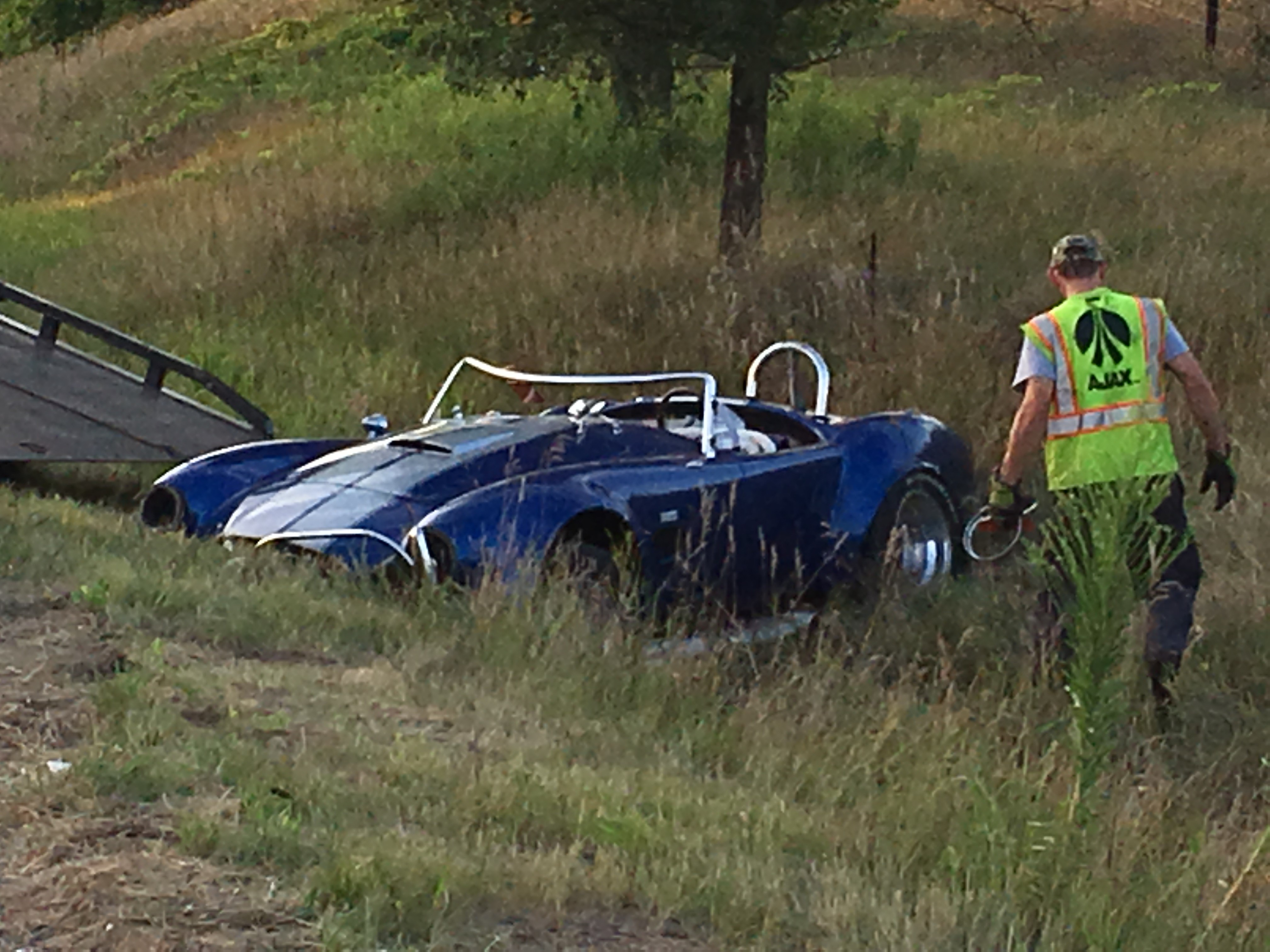 Michigan State Police responded to a single-car accident involving two on M-37 between Adams Rd and Shaw Lake Rd in Thornapple Township  just after 7 p.m. (Credit: Jason Heeres-WWMT)