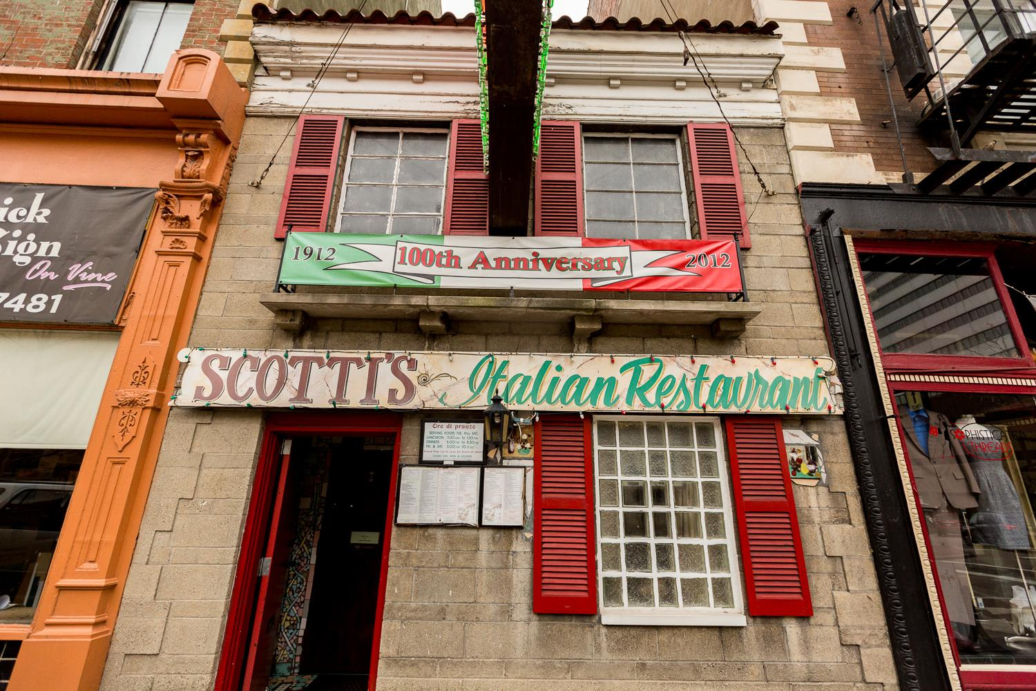Scotti's Italian Restaurant, one of the oldest eateries in Cincinnati, has been combining traditional Italian flavor and classic Cincy flare for over 100 years. Scotti's is located in Downtown Cincinnati at 919 Vine Street (45202). / Image: Daniel Smyth Photography