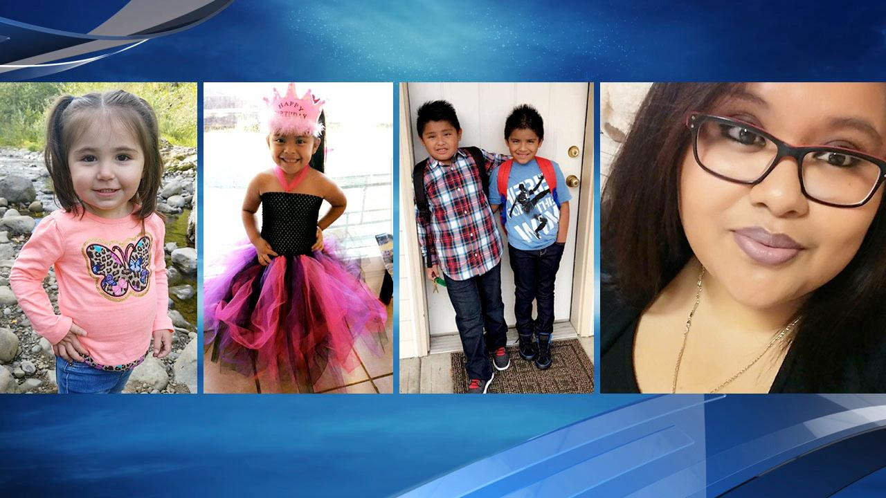 Angelina, Lissette Medrano-Perez's three kids and Medrano-Perez (Photos courtesy family)<p></p>