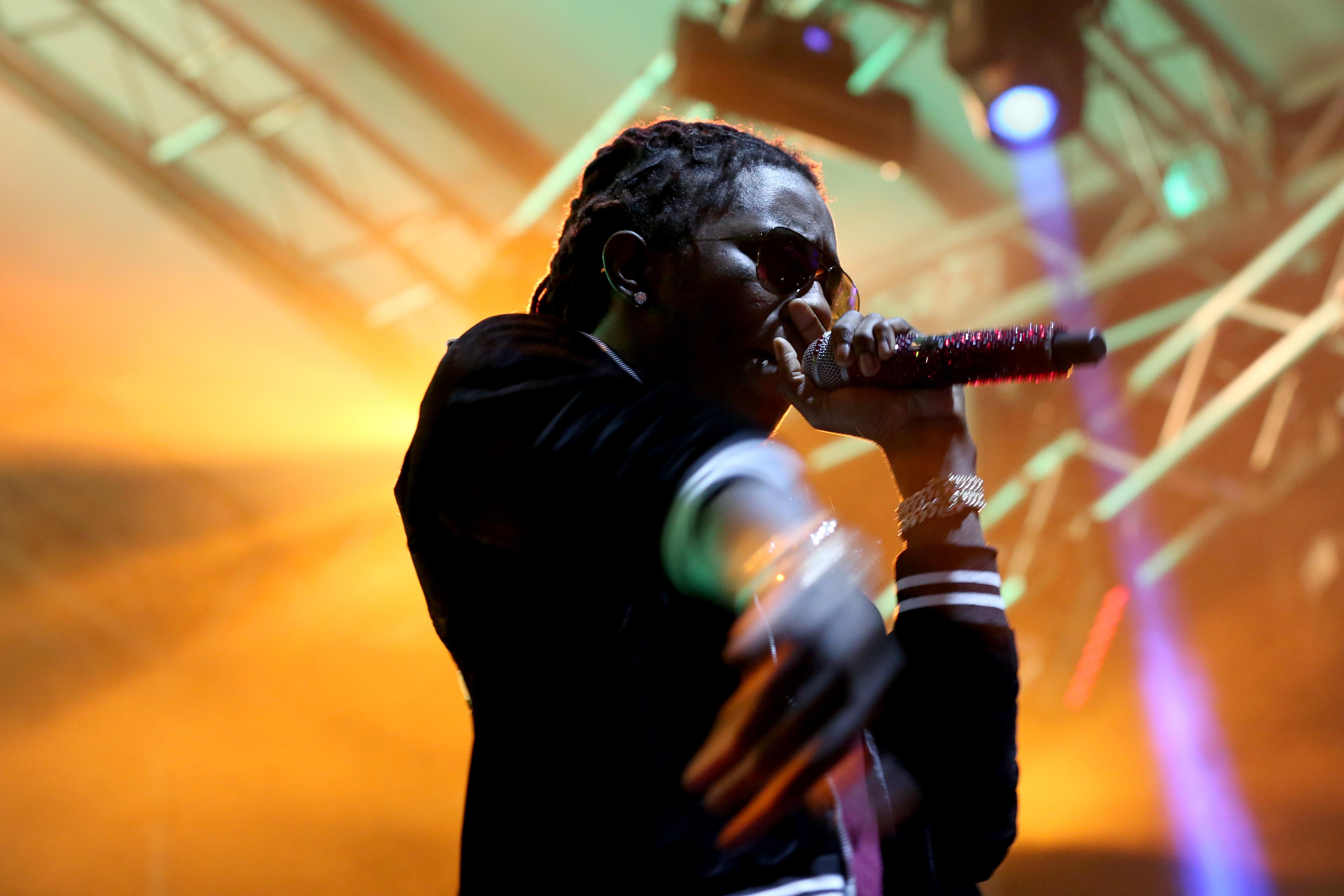 Although Young Thug was over an hour late for his set, the festival-goers that remained were deeply excited to catch his headlining performance.  (Amanda Andrade-Rhoades/DC Refined)