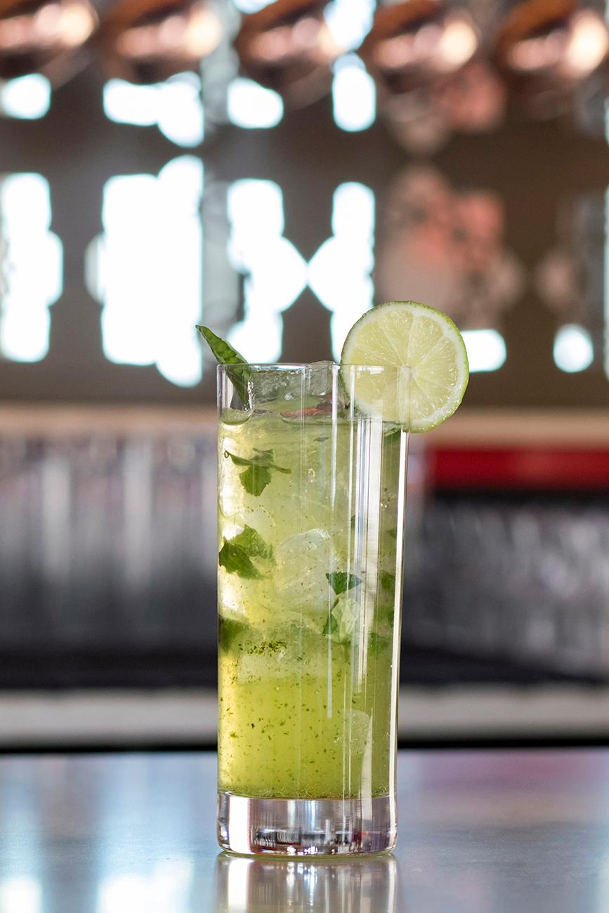 Green Dragon: ginger-infused vodka, basil simple syrup, and muddled with fresh mint / Image: Allison McAdams // Published: 1.21.18<p></p>