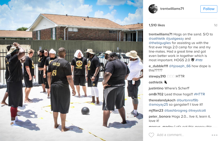 "Trent Williams just can't get enough football and chose to spend his down time organized a camp for the offensive line, dubbed ""Hogs 2.0"" after Washington's legendary offensive lines of the 1980s."