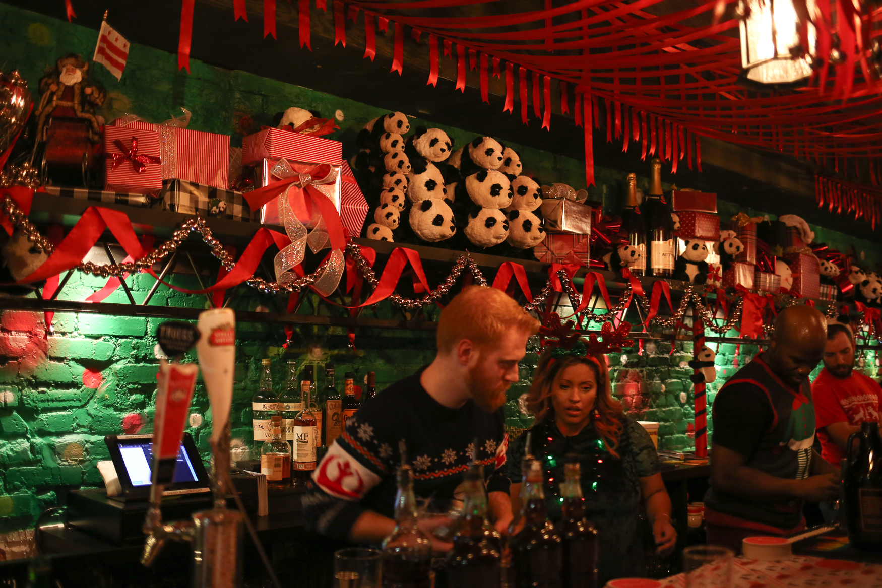 The Miracle on Seventh Street Pop-Up Bar is back. Between November 23 and December 31, you can drift through several panda-themed bars, including an homage to Bei Bei's romp in the snow and a Hanukkah panda room. Although not every drink is panda themed, Santa Bei Bei comes in an Instagram-friendly panda-shaped mug. The bar will be open between Thursday and Sunday and drinks range from $9-$14. (Amanda Andrade-Rhoades/DC Refined)