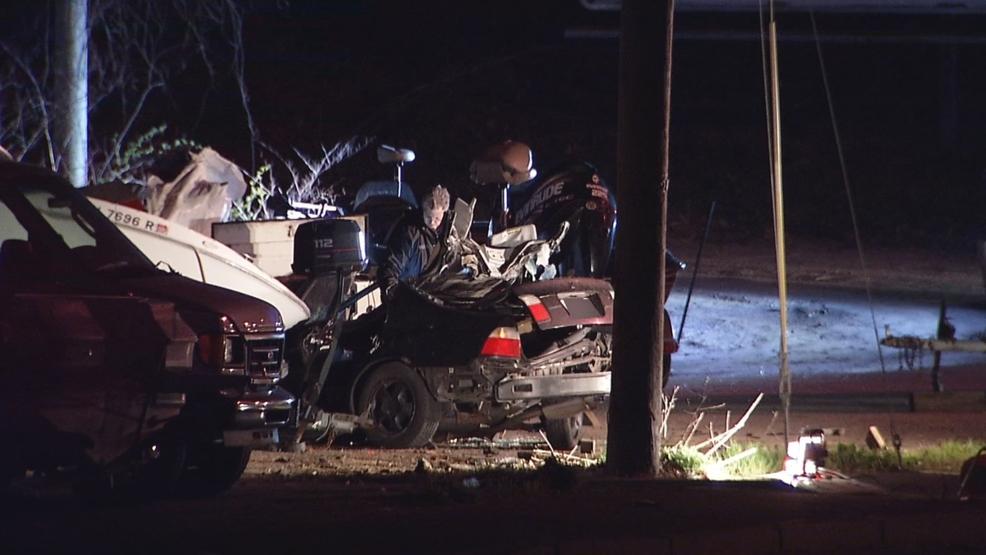 Car crashes into several boats at Warwick dealership | WJAR