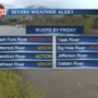 Rivers rise through Friday