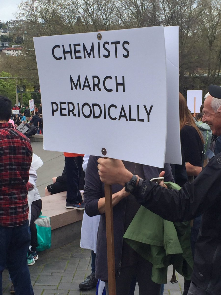 Thousands rallied in Seattle to support scientific endeavor, Saturday, April 22, 2017. KOMO photo.