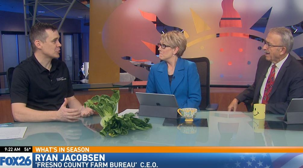 Ryan Jacobsen with the Fresno County Farm Bureau visited Great Day to talk about What's In Season: Bok Choy