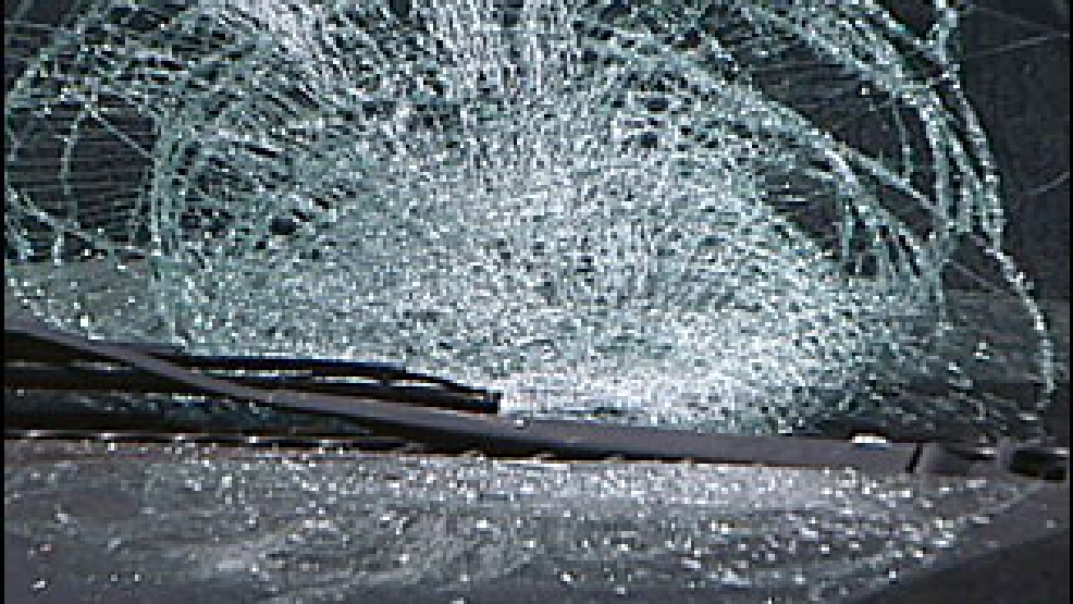 Ice from truck crashes through windshield, injures driver | WRGB