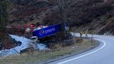 Photos: Pepsi semi truck crashes into Mores Creek along Highway 21