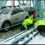 Crash closes Roebling Suspension Bridge