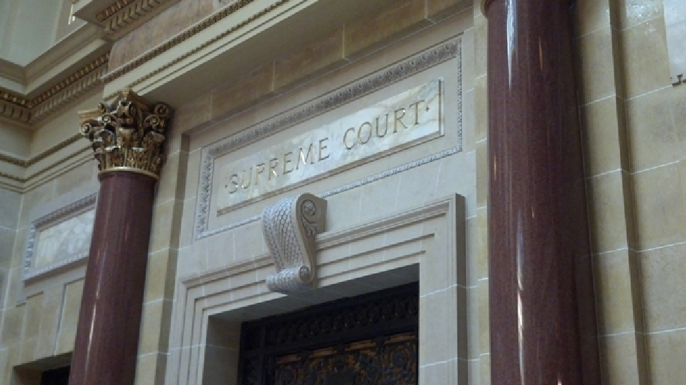 The entrance to the Wisconsin Supreme Court is seen, Feb. 25, 2014. (WLUK/Andrew laCombe)
