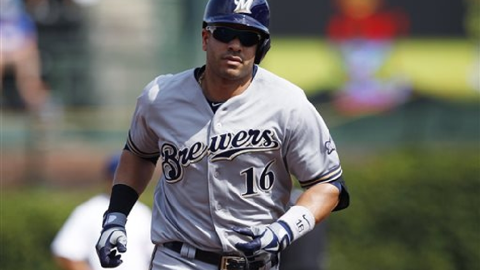 Milwaukee Brewers' Aramis Ramirez runs the bases after hitting a home run against the Chicago Cubs during the third inning of a baseball game Friday, Sept. 6, 2013, in Chicago. (AP Photo/Andrew A. Nelles)