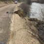 Traffic alert: River road closed after part of the road washes away