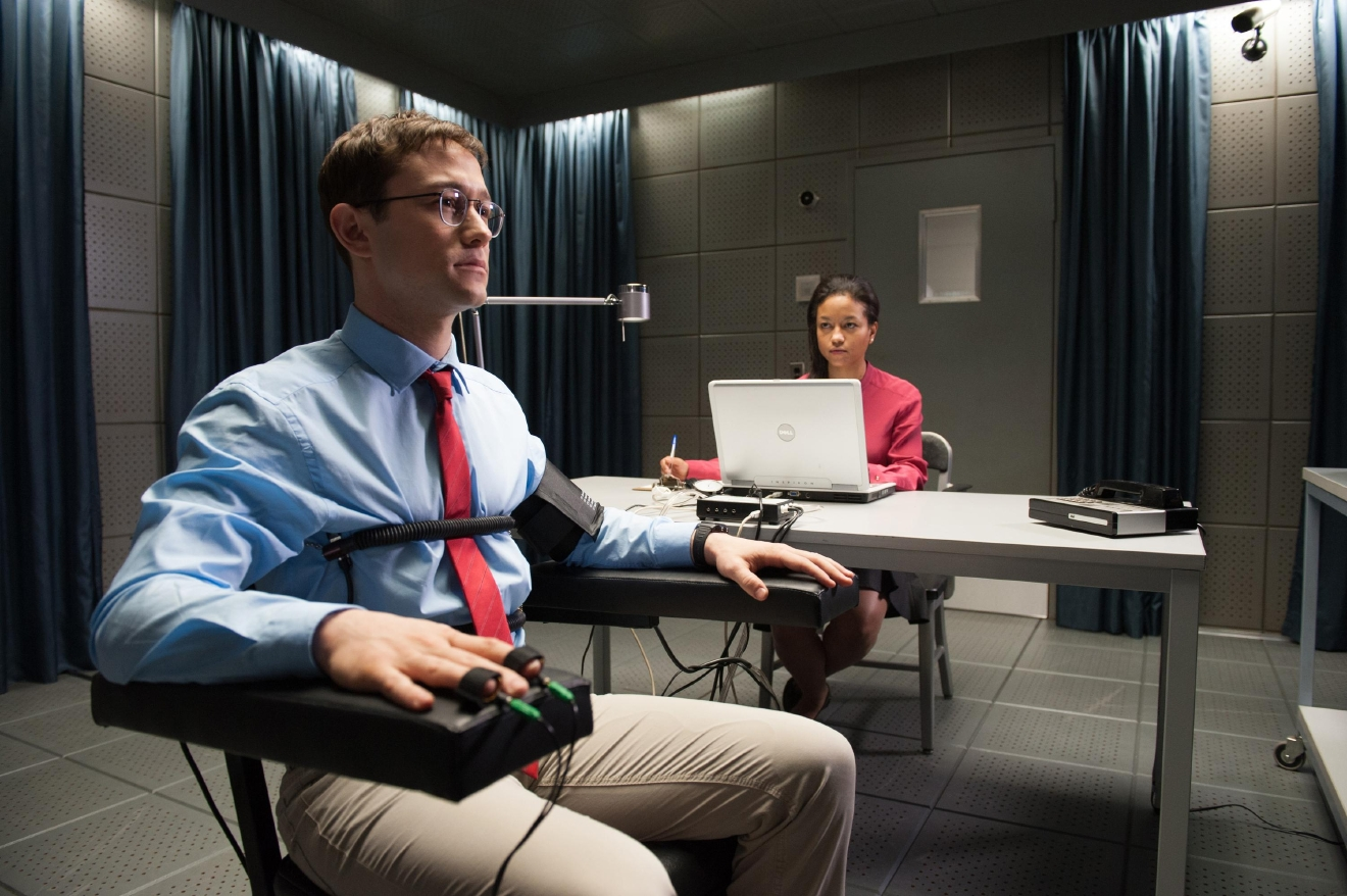 "Joseph Gordon-Levitt as Edward Snowden in  director Oliver Stone's ""Snowden."" (Courtesy Open Road Films)"