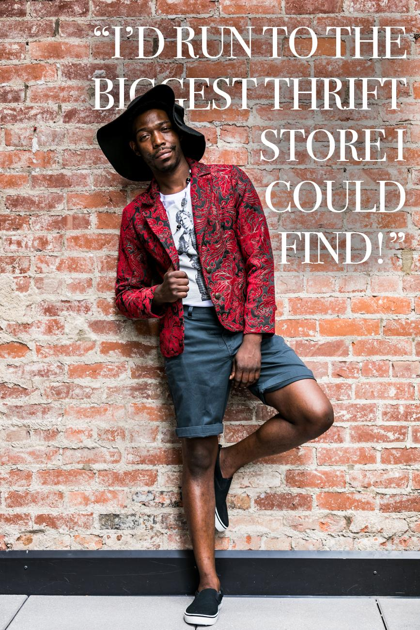 "Cincy Refined: If I handed you $10,000 and you had to spend it on fashion, where would you run to? / Jermey White: ""I'd find the biggest thrift store I could find!"" / Image: Amy Elisabeth Spasoff // Published: 9.5.18"