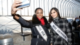 A view from the top: Miss USA and Universe visit the Empire State Building