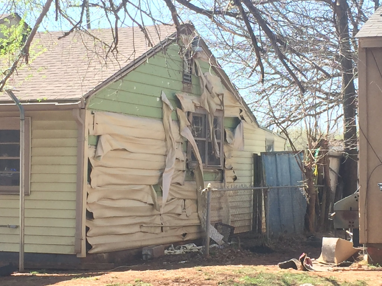 An Oklahoma City home was destroyed in a fire March 20. (KOKH/Colleen Wilson)
