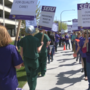 Kadlec employees picket for more funding
