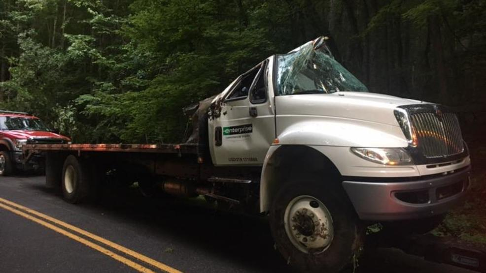 Driver Charged After Truck Carrying Heavy Batteries Crashes On Blue Ridge Parkway
