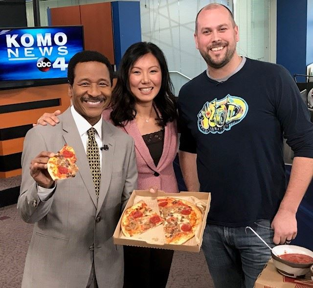 Steve and his love for food on the 4pm! (Image: KOMO News)