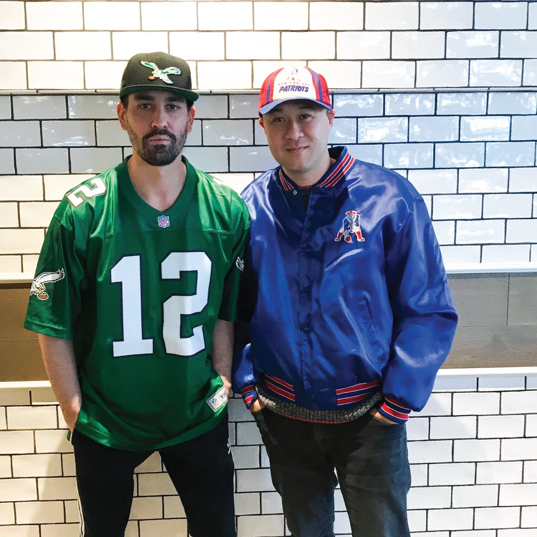 Taylor Gourmet co-owner Casey Patten and The Salt Line's co-owner Jeremy Carman placed a friendly wager on Super Bowl LII. (Image: Courtesy Taylor Gourmet)<p></p>