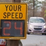Electronic signs aim to reduce speeding, boost safety along Asheville street