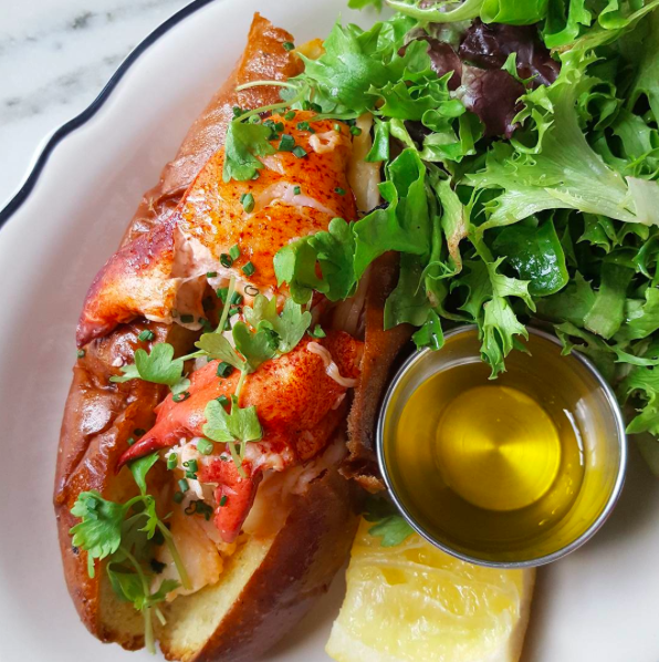 IMAGE: IG user @savoryexperiments / POST: Lobsta roll on brioche with butter. Enough said. Yum.